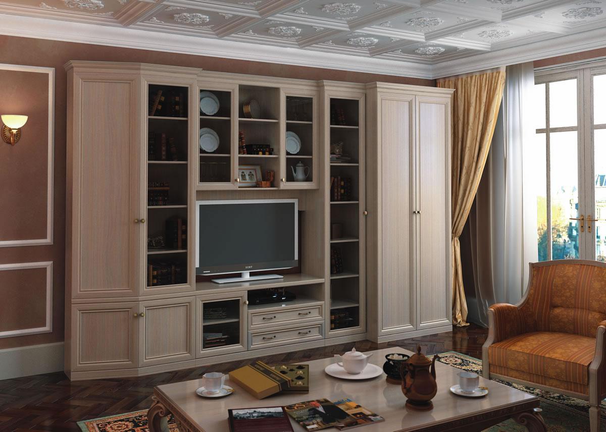 Светлая Корпусная Мебель Для Гостиной